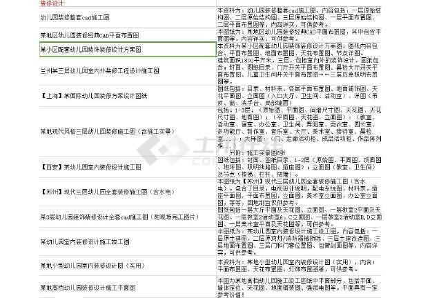 【独家整合】幼儿园建筑装修设计图(共31套)-图2