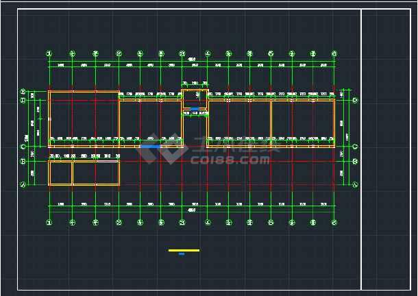 【整合】中小学常用结构教学楼设计图纸(共31套)-图3