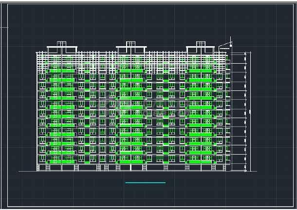 南京某地区小高层住宅建筑设计CAD施工方案图-图1
