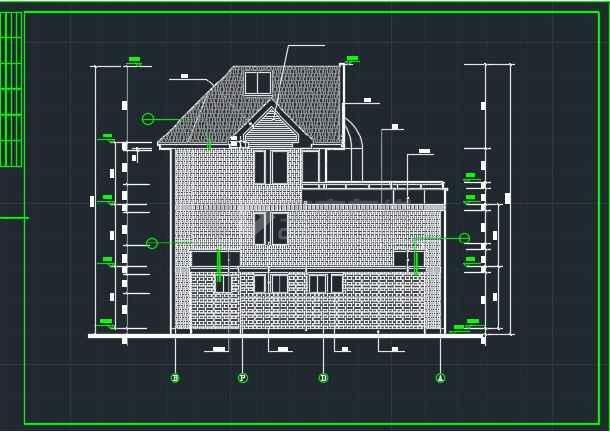 某达华庄园别墅建筑CAD详情施工图纸-图1