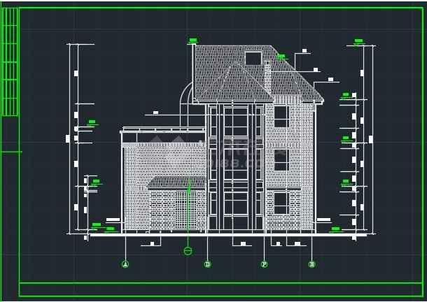 某达华庄园别墅建筑CAD详情施工图纸-图2