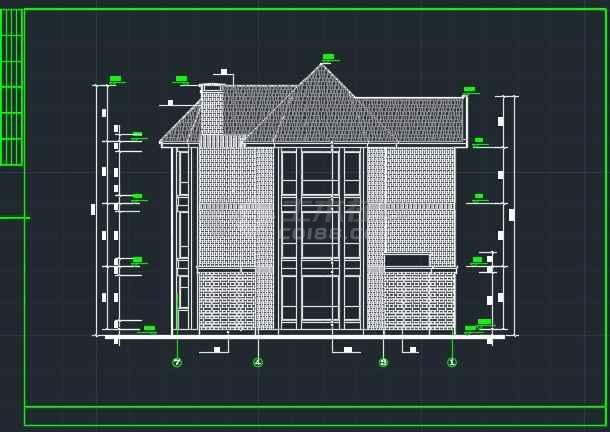 某达华庄园别墅建筑CAD详情施工图纸-图3