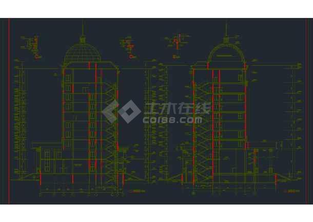 某地区行政办公楼全套建筑设计CAD施工图-图2