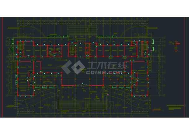 某地区行政办公楼全套建筑设计CAD施工图-图3