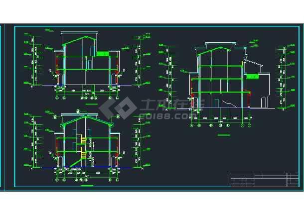 某地区A型拼合住宅建筑设计CAD施工图-图1