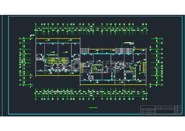 某地区A型拼合住宅建筑设计CAD施工图-图2