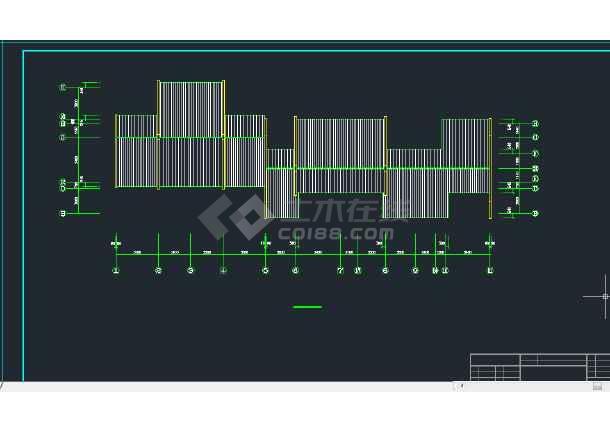 某地区A型拼合住宅建筑设计CAD施工图-图3