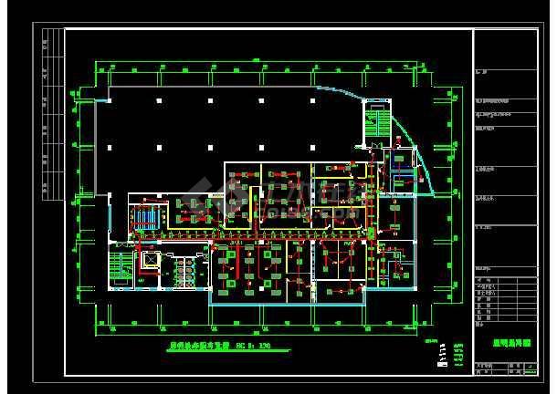 某地大型电子办公楼强弱电电气图纸-图2