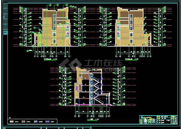 花园洋房建筑设计施工图,退台设计,经典设计。-图1