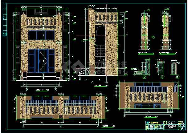 花园洋房建筑设计施工图,退台设计,经典设计。-图3