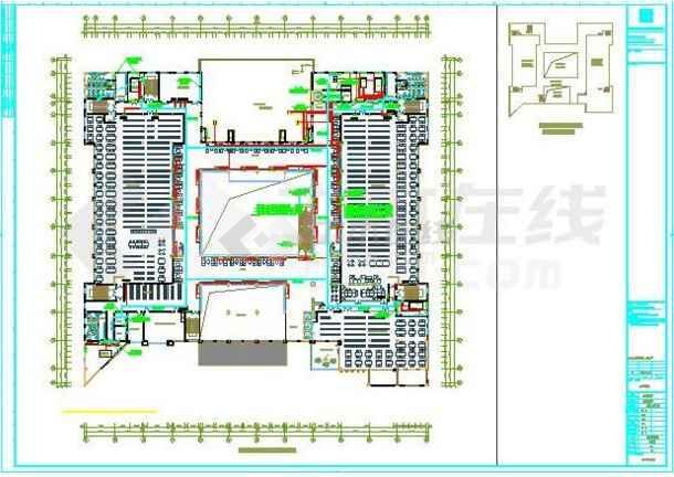 某地图书馆电气施工图纸(标注详细)-图3