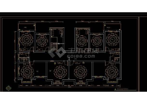 酒店办公楼建筑施工全套CAD设计图纸-图3
