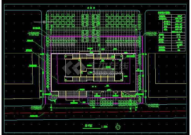 高级写字楼全套建筑施工CAD设计详图方案-图3