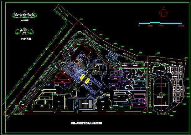 马鞍山工贸技工学校总体规划设计-图1