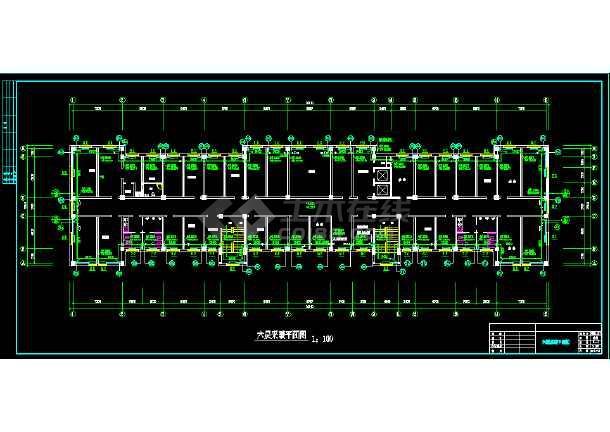 12554.18平米高层办公楼采暖平面图_cad图纸钩收纳毛线筐图纸图片
