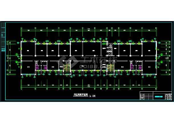 12554.18平米高层办公楼施工平面图_cad图纸仁厚采暖cad图纸教育图片