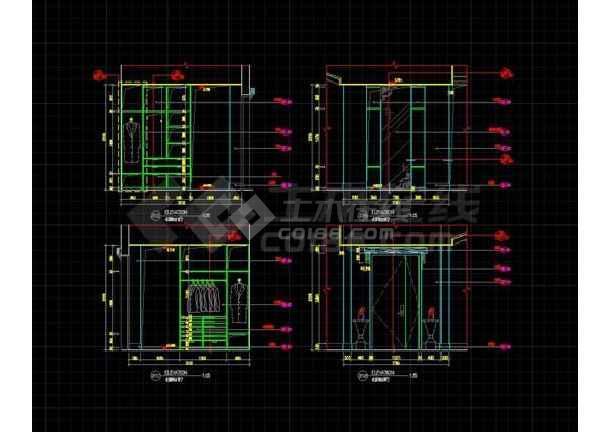 别墅主卧装饰CAD详图(含设计说明)-图1