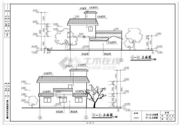 某地区小型的新农村建设农民住宅图-图1