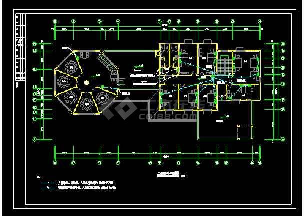 某地大型会所配电电气图纸(含设计说明)-图1