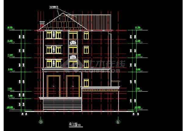 某地大型错层别墅建筑结构施工图(标注详细)