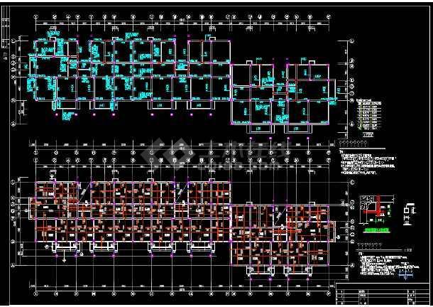 某异形柱框架结构住宅楼全套图(全套)-图1