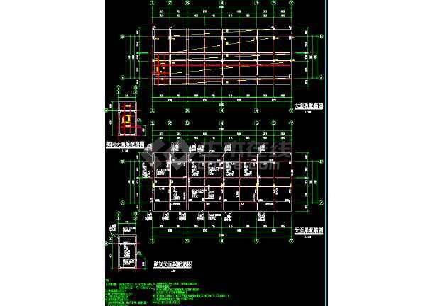 某五层框架结构宿舍楼结构施工图(标注详细)-图1