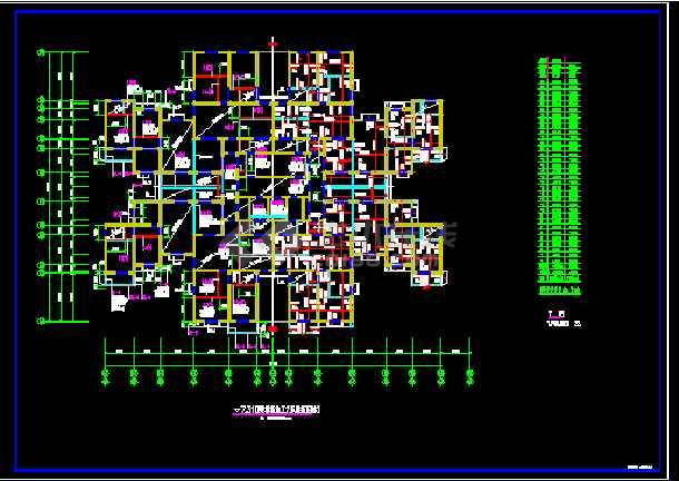 某医院结构设计cad图纸(节点详细)-图1