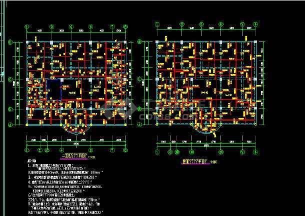 异形柱整套完整结施图(含设计说明)-图1