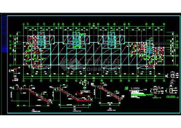 异形柱多层砌体结构住宅建筑cad图纸(共11张)-图1