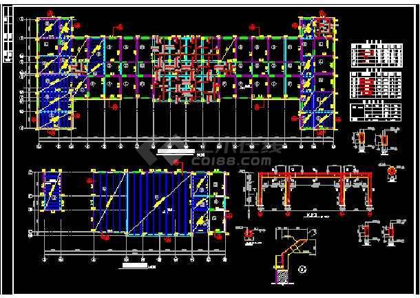 比较详细的中医院框架结构门诊楼cad施工图(节点详细)-图1