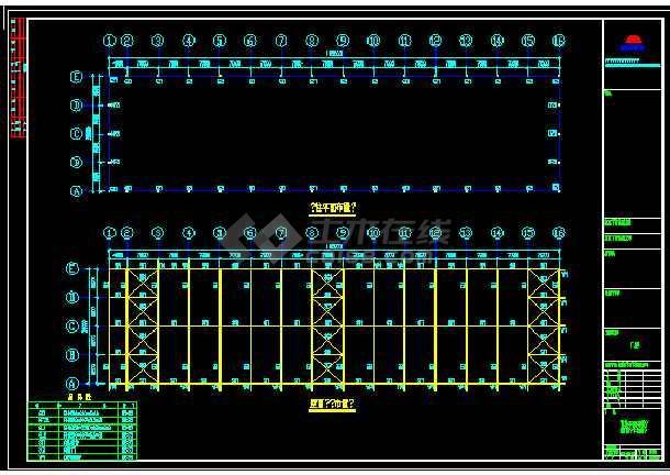 某地小型的建筑结构设计cad图纸-图1