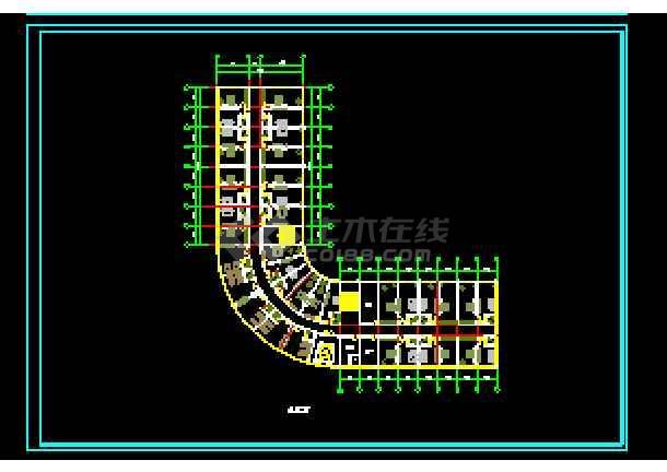 某地大酒店设计方案建筑图纸(标注详细)