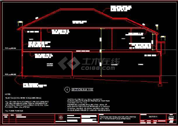 某住宅木结构建筑结构设计施工图纸-图1