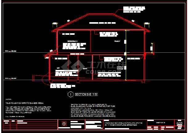 某住宅木结构建筑结构设计施工图纸-图2