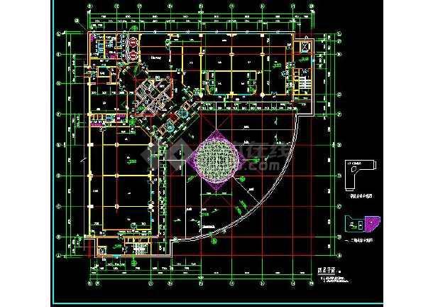 某地大型完整的高层酒店建筑施工图(标注详细)