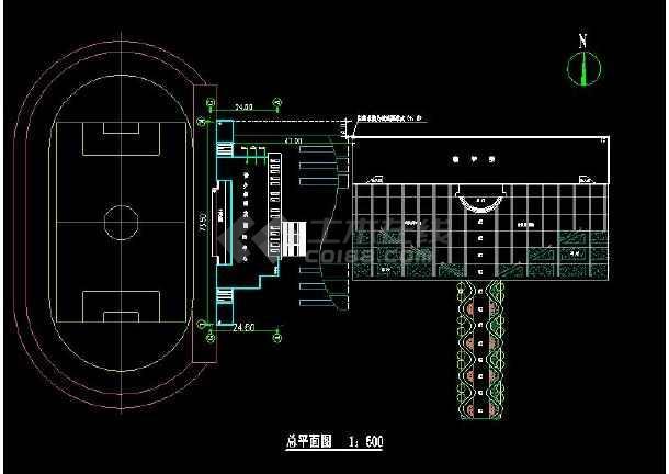 某地大型青少年活动中心建筑施工图(含设计说明)-图1