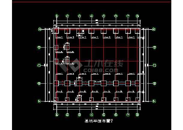 某大跨度钢结构工业厂房图纸(结构)