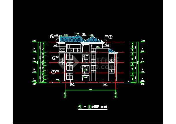 某度假村别墅结构设计cad施工平面图