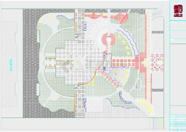 高铁站前广场景观规划平面图-图1