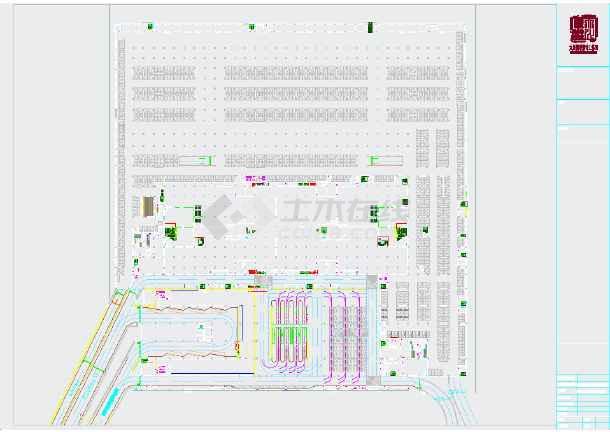 高铁站前广场景观规划平面图-图2