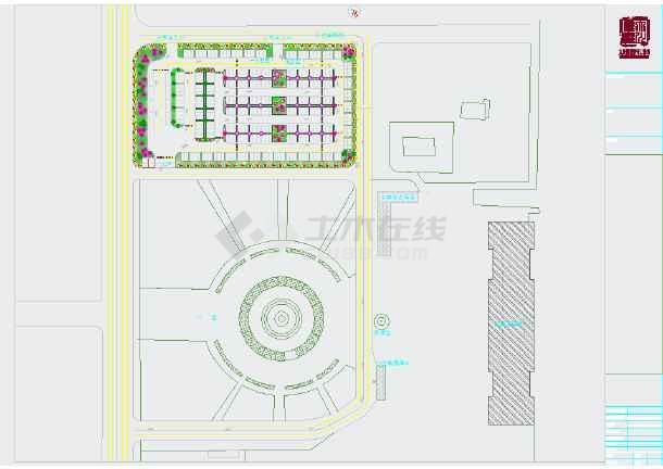 高铁站前广场景观规划平面图-图3