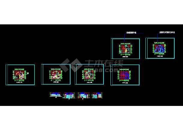 详情模型、效果图、3DMAX别墅图纸CAD图纸图纸超市停车场图片