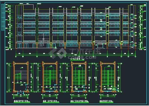 【整合】十套多层厂房建筑施工图纸-图3