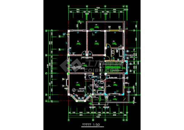 11.4x15米两层别墅建筑设计图