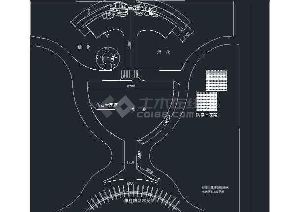 某小学校园内景观规划施工图-图2
