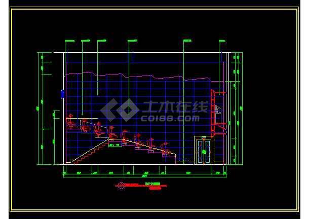 大型电影院建筑施工CAD设计图纸-图1