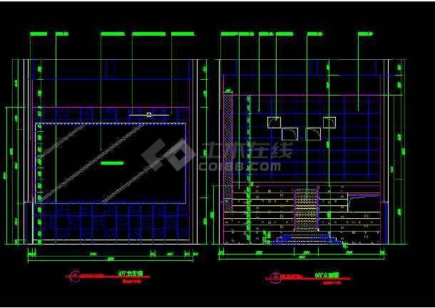 大型电影院建筑施工CAD设计图纸-图3