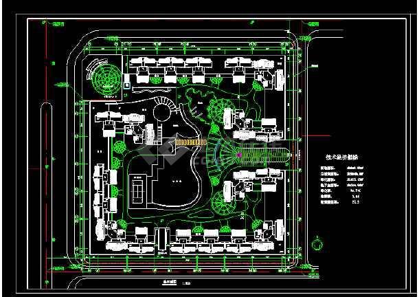 [南京]某个高层住宅小区平面绿化规划设计cad施工图-图2