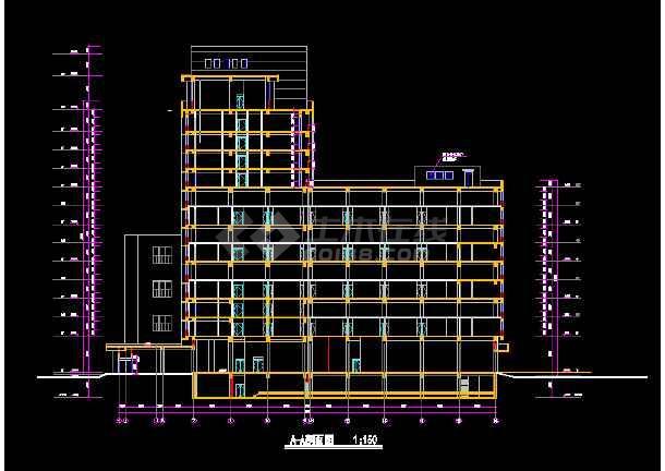 青岛火车站全套建筑施工CAD设计方案图纸-图1