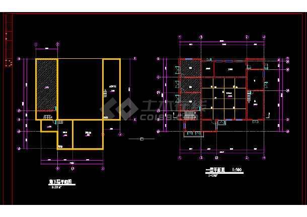 青岛火车站全套建筑施工CAD设计方案图纸-图2